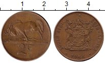 Изображение Монеты ЮАР 2 цента 1984 Бронза VF