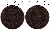 Изображение Монеты Испания 1/2 реала 1850 Медь VF