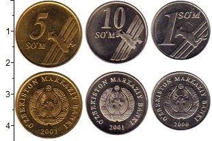 Изображение Наборы монет СНГ Узбекистан 1 сом 2000  UNC-
