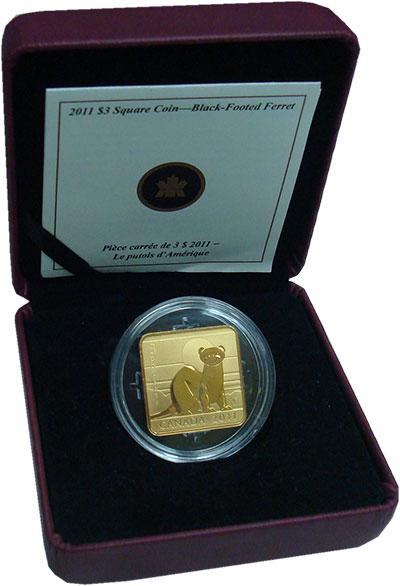 Изображение Подарочные монеты Северная Америка Канада 3 доллара 2011 Серебро Proof