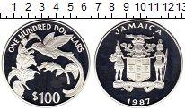 Изображение Монеты Ямайка 100 долларов 1987 Серебро Proof-