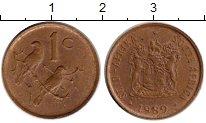 Изображение Монеты Африка ЮАР 1 цент 1989 Бронза XF