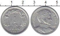 Изображение Монеты Южная Америка Чили 1 песо 1954 Алюминий XF