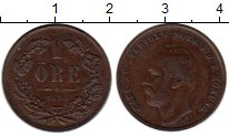 Изображение Монеты Швеция 1 эре 1870 Медь XF
