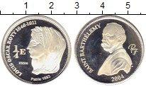 Изображение Монеты Реюньон 1/4 евро 2004 Серебро Proof-