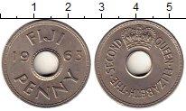 Изображение Монеты Австралия и Океания Фиджи 1 пенни 1963 Медно-никель UNC-