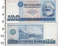 Изображение Банкноты ГДР 100 марок 1975  UNC