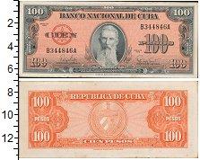 Изображение Банкноты Северная Америка Куба 100 песо 1959  XF-