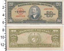 Изображение Банкноты Куба 20 песо 1958  XF+