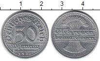 Изображение Монеты Веймарская республика 50 пфеннигов 1922 Алюминий XF F