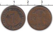 Изображение Монеты Веймарская республика 1 пфенниг 1934 Медь VF