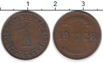 Изображение Монеты Веймарская республика 1 пфенниг 1928 Медь XF