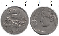 Изображение Монеты Европа Италия 20 сентесим 1910 Медно-никель XF-