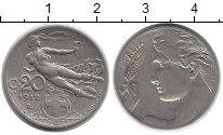 Изображение Монеты Европа Италия 20 сентесим 1912 Медно-никель XF-