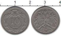 Изображение Монеты Европа Австрия 10 геллеров 1894 Медно-никель XF-