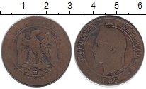 Изображение Монеты Франция 10 сантим 1863 Бронза VF