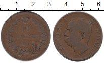 Изображение Монеты Европа Италия 10 сентесим 1893 Медь VF