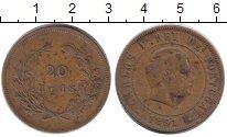 Изображение Монеты Португалия 20 рейс 1891 Бронза VF
