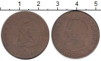 Изображение Монеты Франция 5 сантим 1856 Бронза VF