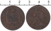 Изображение Монеты Франция 5 сантим 1854 Бронза VF Император Наполеон I