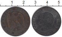 Изображение Монеты Франция 5 сантим 1855 Бронза VF