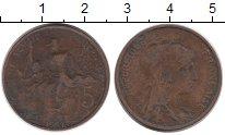 Изображение Монеты Франция 5 сантим 1908 Бронза VF