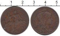Изображение Монеты Европа Франция 5 сантим 1914 Бронза VF