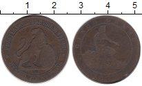 Изображение Монеты Испания 5 сентим 1870 Бронза VF