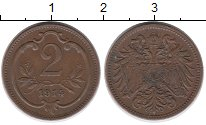Изображение Монеты Австрия 2 геллера 1914 Бронза XF-