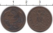 Изображение Монеты Европа Австрия 2 геллера 1911 Бронза VF
