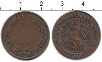 Изображение Монеты Нидерланды 2 1/2 цента 1864 Бронза VF