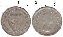 Изображение Монеты Африка ЮАР 3 пенса 1958 Серебро VF