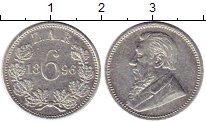 Изображение Монеты Африка ЮАР 6 пенсов 1896 Серебро VF
