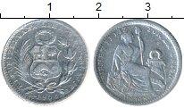 Изображение Монеты Южная Америка Перу 1 динер 1908 Серебро VF