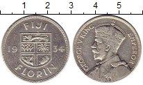 Изображение Монеты Фиджи 1 флорин 1934 Серебро VF