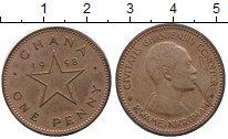 Изображение Монеты Гана 1 пенни 1958 Бронза VF