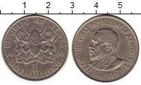 Изображение Монеты Кения 1 шиллинг 1969 Медно-никель XF Мзее Йомо Кеньятта