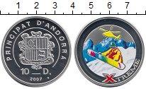 Изображение Монеты Андорра 10 динерс 2007 Серебро Proof
