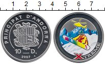 Изображение Монеты Европа Андорра 10 динерс 2007 Серебро Proof