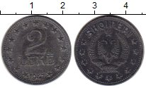 Изображение Монеты Албания 2 лека 1947 Цинк XF