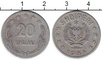 Изображение Монеты Албания 20 киндарка 1964 Алюминий VF