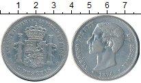 Изображение Монеты Европа Испания 5 песет 1876 Серебро VF