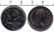 Изображение Монеты Северная Америка Канада 25 центов 1984 Медно-никель UNC