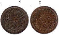 Изображение Монеты Нидерланды 1/2 цента 1938 Бронза XF