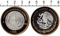 Изображение Монеты Мексика 100 песо 2014 Биметалл Proof
