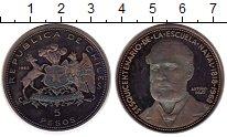 Изображение Монеты Чили 5 песо 1968 Серебро UNC-