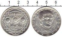 Изображение Монеты Италия 1000 лир 2000 Серебро UNC