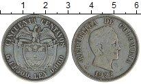 Изображение Монеты Колумбия 50 сентаво 1922 Серебро XF