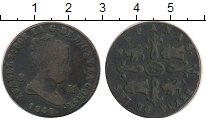 Изображение Монеты Испания 8 мараведи 1849 Медь VF Изабелла II