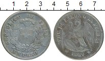 Изображение Монеты Чили 1 песо 1880 Серебро VF